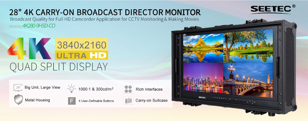 4K280-9HSD-CO 28 inch 4K carry-on director monitor