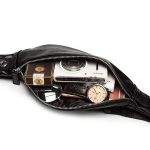 Image 2 - حقيبة خصر للرجال فاخرة من جلد البولي يوريثان حقيبة عصرية بحزام قابل للضبط حقيبة للرجال عالية الجودة كيس الموز