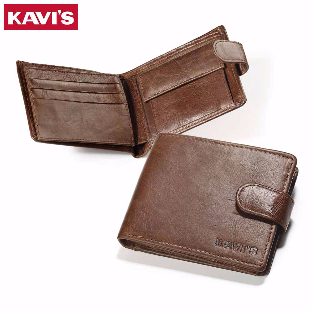 KAVIS Genuine Leather Wallet Men Hasp Small Coin Purse Male Walet Portomonee Mini Slim Perse PORTFOLIO Card Holder Rfid joyir vintage men genuine leather wallet short small wallet male slim purse mini wallet coin purse money credit card holder 523