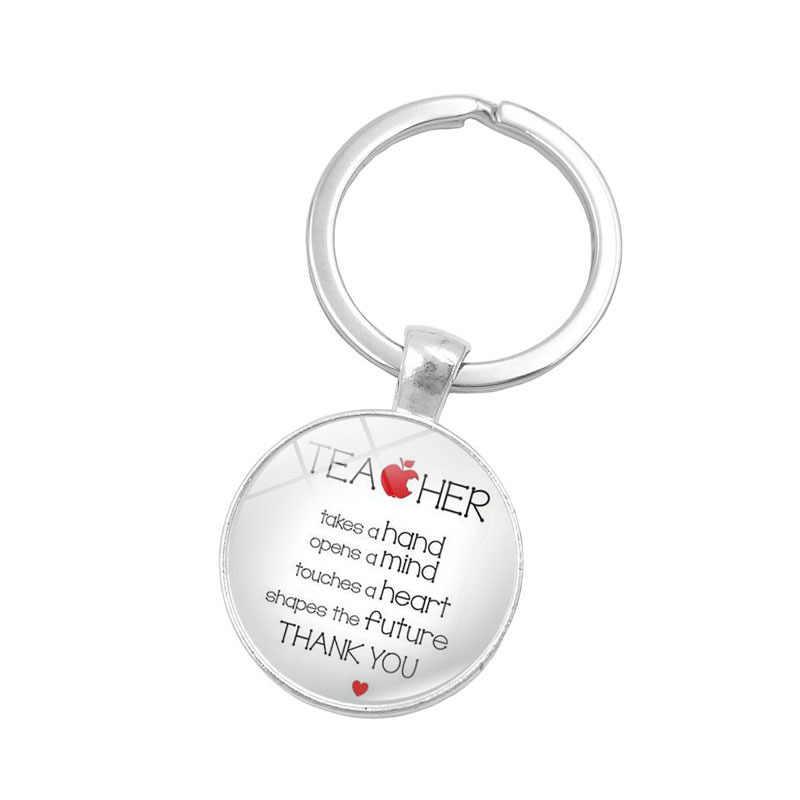 2018 mới giáo viên quà tặng tốt nhất tuyệt vời giáo viên keychain giảng dạy là một công việc của tim key chain vòng chủ cho nam giới phụ nữ đồ trang sức 2017