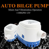 Automatic Submersible Bilge Auto Water Pump 1100GPH Boat 12V Marine Float Switch High Efficiency Ignition Protected Anti Airlock