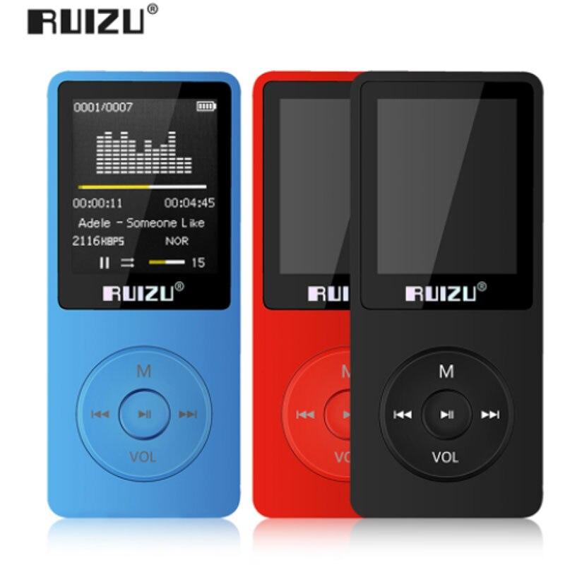 E-buch Uhr Voice Recorder SchöN In Farbe Englisch Version Ultradünne Mp4 Player Mit 8 Gb/16 Gb Speicher 1,8 Zoll Bildschirm Kann Spielen 80 H Ruizu X02 Fm