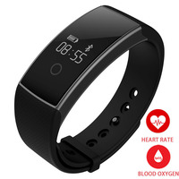 TEZER A09 new for iOS Android smart wrist Band Heart Rate Monitor blood Oxygen Oximeter Sport Bracelet Alarm clock black remote