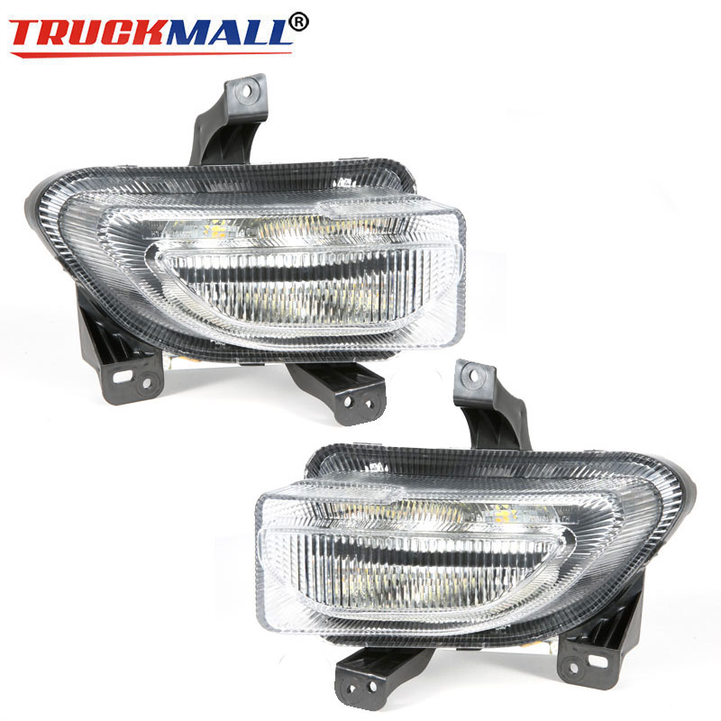 Clear Lens Switchback LED Daytime Running Lamp For Jeep Renegade 2015-2018 High Power LED White DRL & Amber Turn Signal Lamps