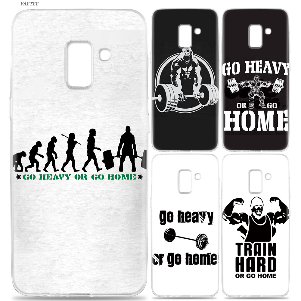 Silicone Phone Back Case For Samsung Galaxy J3 J4 J5 J6 J7 J8 J2 Pro 2018 J1 2016 J2 Grand Prime Pro Cover go heavy or go home