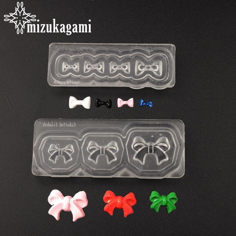 1pcs UV Resin Jewelry Liquid Silicone Mold Bow Resin Charms Mold For DIY Making Jewelry Nail Art Mold