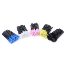 250pcs/lot make up brush Pink synthetic fiber One-Off Disposable Eyelash Brush Mascara Applicator Wand best deal