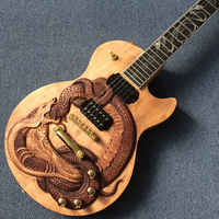 Custom guitar, carved dragon pattern, Rosewood Fingerboard, free shipping