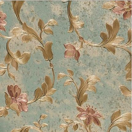 Luxurious vintage natural floral modern flowery wallpaper ...