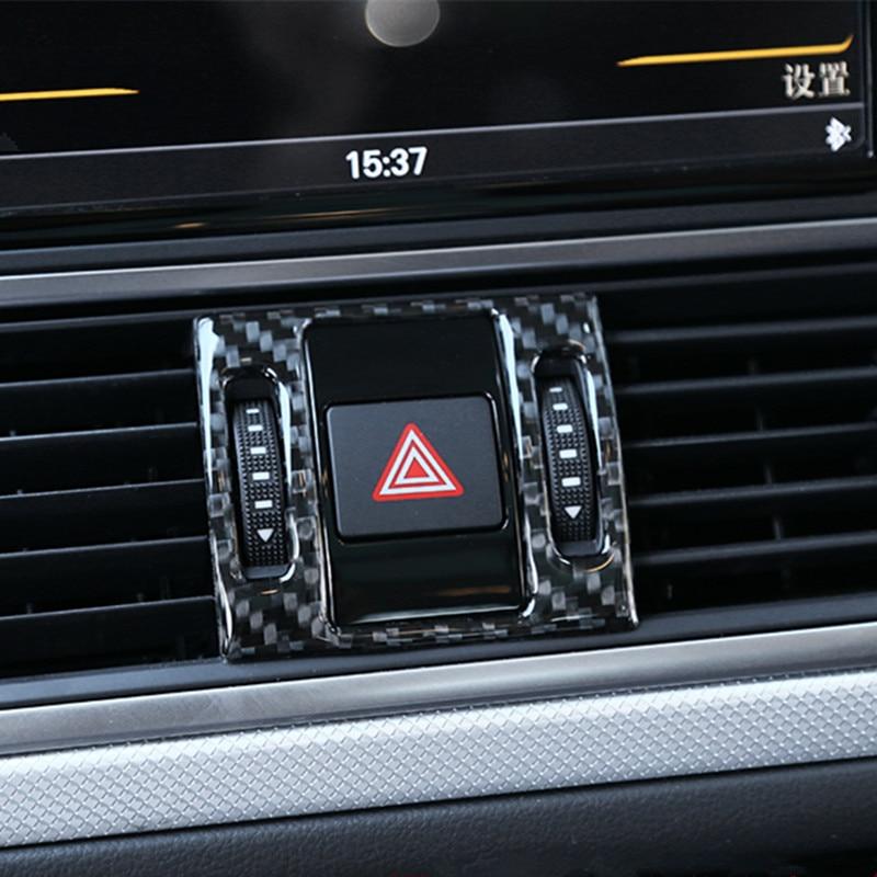 HDCF Car Door Trim Strips ABS Center Console Dashboard Decoration Cover Trims ABS For A3 8V 2014-2018 S3 Carbon Fiber Color