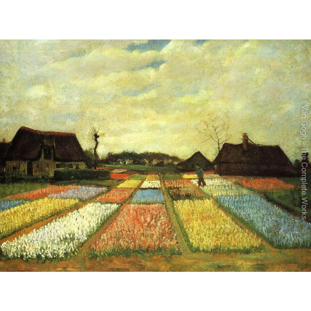 High quality Vincent Van Gogh paintings Bulb Fields oil on canvas hand-painted Home decor