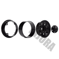 "INJORA 4Pcs 1.55"" Aluminum Wheel Tires 1.55 Inch Tyre for RC Crawler Car D90 TF2 Tamiya CC01 MST JIMNY Axial AX90069 4"