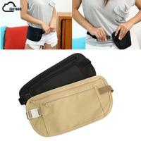 ISKYBOB Cloth Travel Pouch Hidden Wallet Passport Money Waist Belt Bag Slim Secret Security Useful Travel Bag Waist Packs