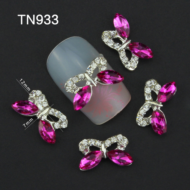 Blueness 3D Charms Adhesive Rose Clear Decorating Stones for DIY ...