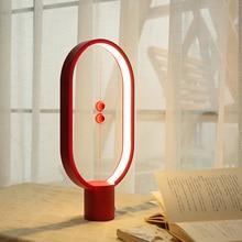 Magnetic control Heng Balance lamp LED Night Light USB Powered Home Decor Bedroom Office Table Lamp Christmas Kids Novel Gift недорого