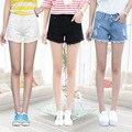 2016 summer women hole jeans female loose large size ladies denim shorts female burrs Sexy Fashion Women Short Jeans 25-34 Z2259