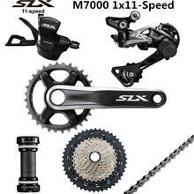 SHIMANO DEORE SLX M7000 Groupset 34T Crankset אופני הרי 1x11 Speed 40T 42T 46T M7000 אחורי הילוכים משמרת מנוף