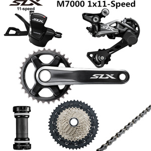 Image 1 - SHIMANO DEORE SLX M7000 Groupset 34T Crankset אופני הרי 1x11 Speed 40T 42T 46T M7000 אחורי הילוכים משמרת מנוף
