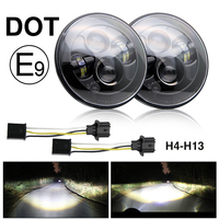 CO LIGHT Led Headlight 7 Inch Hi Lo 50W 30W 5000lms 3000lm For Harley Moto Bike