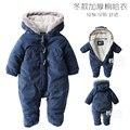 Bebés bodys otoño e invierno engrosamiento masculina invierno wadded mameluco recién nacido térmica clothing