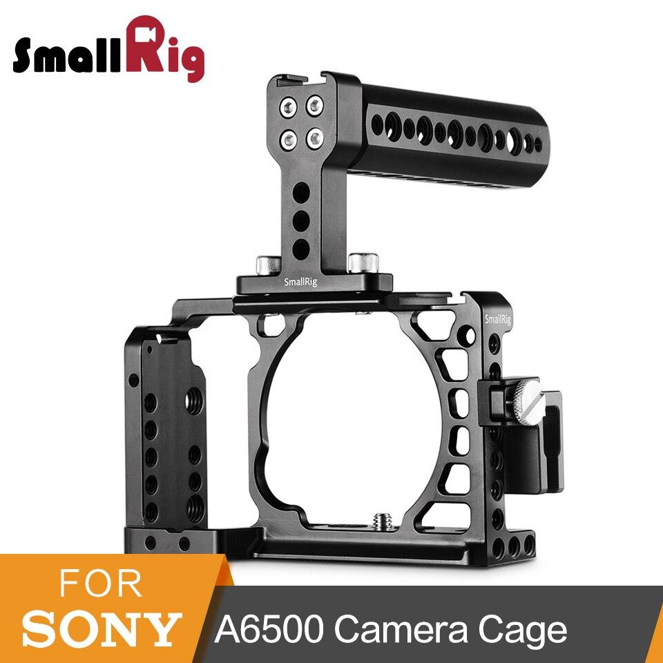 Cage de caméra de protection SmallRig a6500 avec poignée supérieure + pince de câble HDMI pour Sony A6500/A6300 ensemble de plate-forme de Cage Dslr-1968