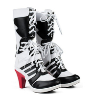 Anime Suicide Squad Harley Quinn Cosplay Shoes 35 40 Customized Size Choice 41 High Quality Free