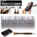 25 em 1 chave de fenda set ferramentas herramientas torx chave de fenda conjunto carteira ferramentas manuais ferramentas de reparo para o iphone para smartphones