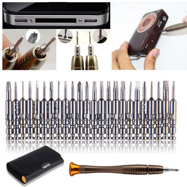 25 in 1 screwdriver set Torx herramientas ferramentas Screwdriver Wallet Set Repair Tools For iphone For Smartphone hand tools