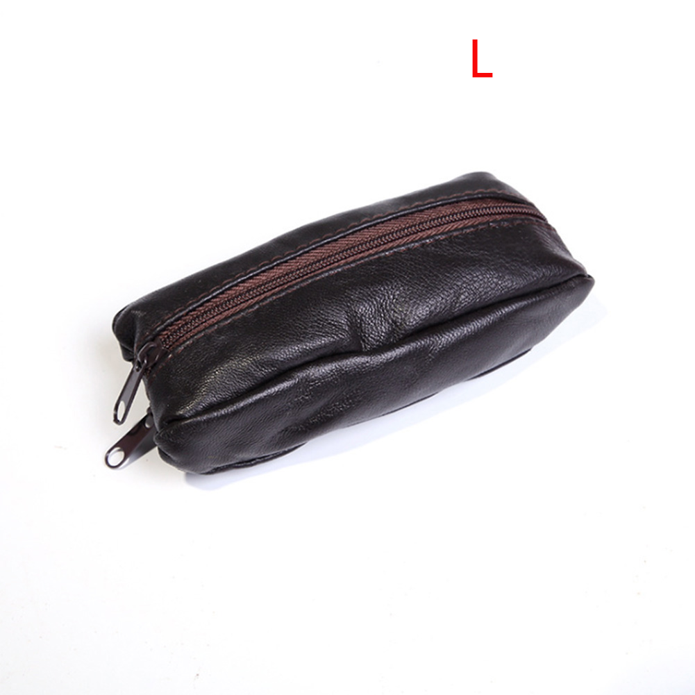 Soft Real Leather Pencil Case Pen Coin Traditional Pouch Clutch Purse Oxblood
