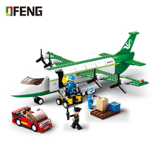 City Plane Series  Aircraft Building Blocks Green Airplane kits compatible with  Sets Toys Gifts for Children lepin city 02061 series 870pcs the jungle exploration site set children educational building toys kits compatible with 60161