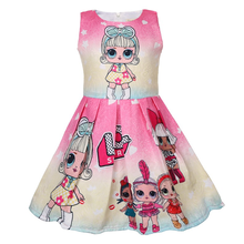 hot deal buy lol dolls baby dresses summer  3-9y cute elegant dress kids party christmas costumes children clothes princess lol girls dress