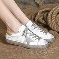 BBK 2017 новые прибытия детская обувь дети удобные квартиры натуральная кожа обуви для мальчиков и девочек взрослый размер 34 46 В *