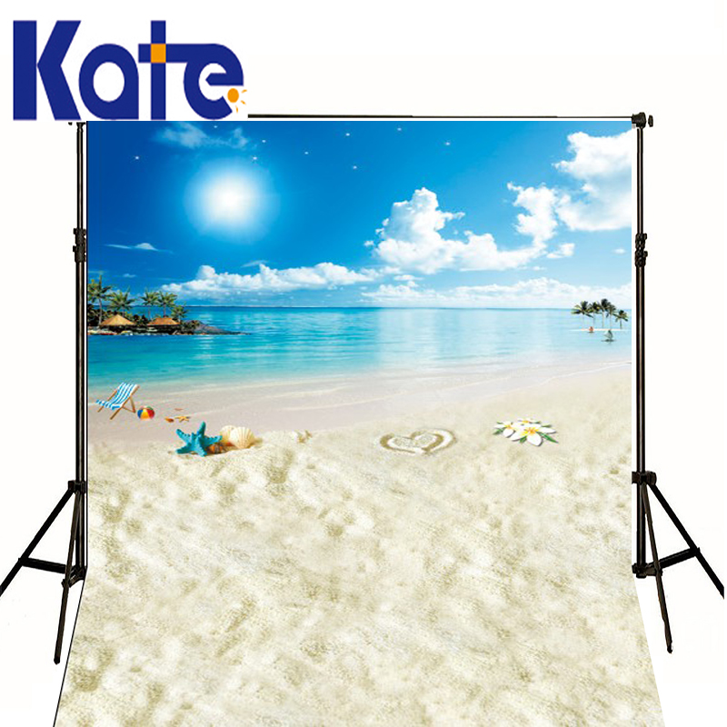 Wedding Starfish Beach Loungers Island backdrop Newborn Photography Blue Sky  Mini White Clouds Studio Backgrounds Photo Image seaside beach white clouds and blue sky photo backdrop high grade vinyl cloth computer printed wedding backgrounds
