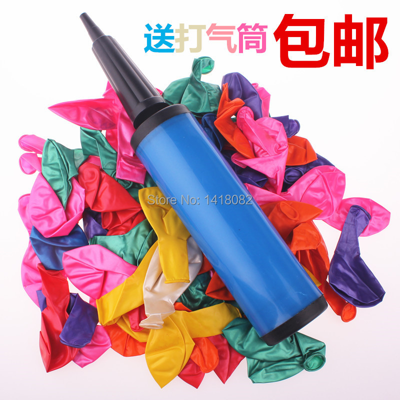A packet of balloons with a bicycle pump sets for sale Multicolour balloon style