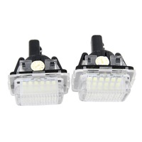 2Pcs Error Free 18SMD LED License Plate Light Kit Replacement For Mercedes Benz W204 S204 C180