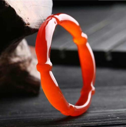 Koraba Fine Jewelry Fashion Pretty 100% Natural Primary Red Agate Bamboo Shape Bracelet Free ShippingKoraba Fine Jewelry Fashion Pretty 100% Natural Primary Red Agate Bamboo Shape Bracelet Free Shipping