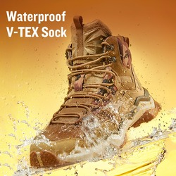 Rax Hiking Shoes Men Waterproof Winter Outdoor Mountain Boot Men Big Size Lightweight Walking Shoes Men Breathable Trekking Boot