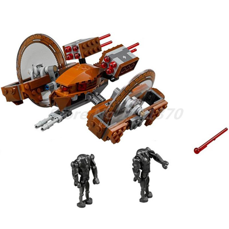 BELA 10370 Star Wars Attack Of Clones Hailfire Droid Exclusive Figure Building Blocks Bricks DIY Toys For Children Gifts 75085 стоимость