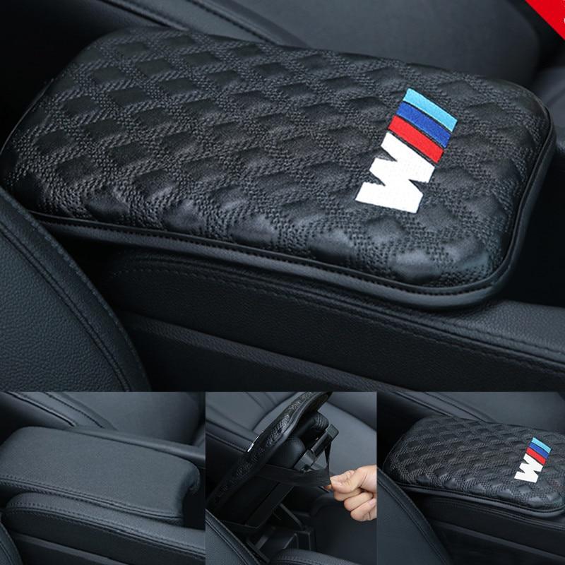 1 PCS Capas de Almofada de Braços Carro acessórios Logotipo do carro styling Para BMW X1 X3 525li 320li X5 X6 E70 E71 E72 E90 E91 E92 E93 M3 M GT