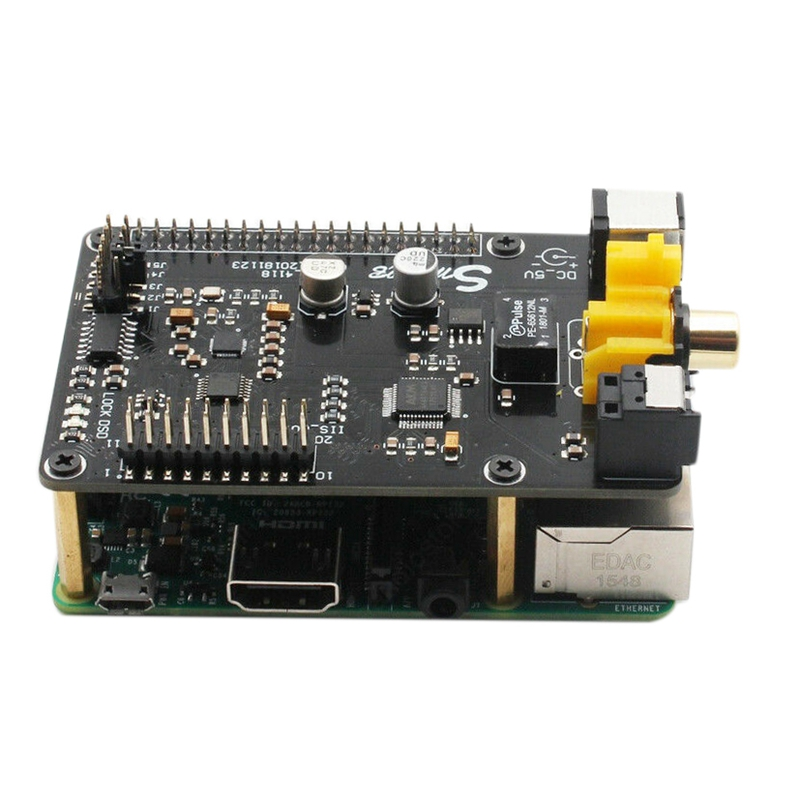 For Raspberry Pi Ak4118 Coaxial I2S Optical Digital Interface for Dsd Dac Sound Card