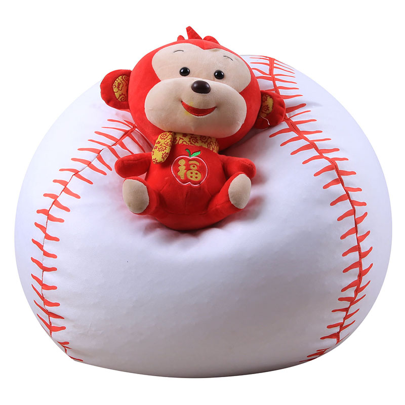 Storage Beanbag Sofa 38inch Baseball  Rugby Shape Clothes Plush Toys Orgnizer Bag Children Store Toy Neaten Kid's Bedroom