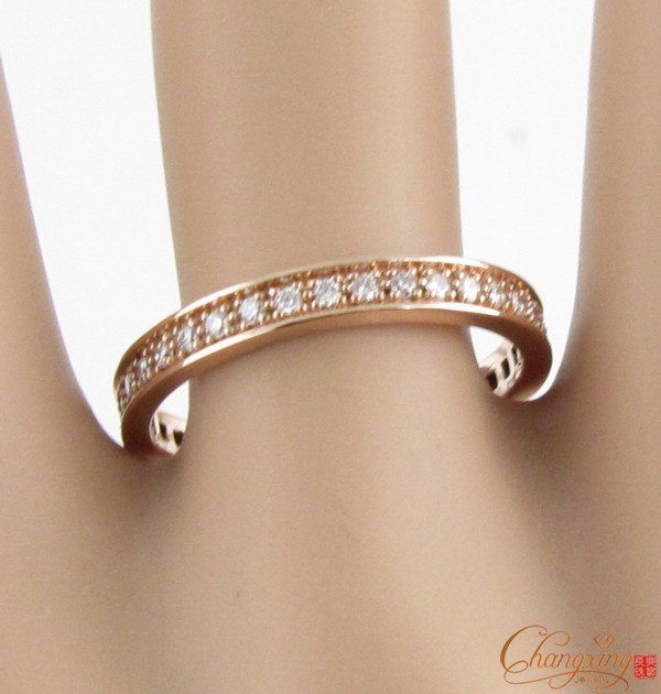 14k rose gold natural 050ct pave set diamond eternity wedding band ring