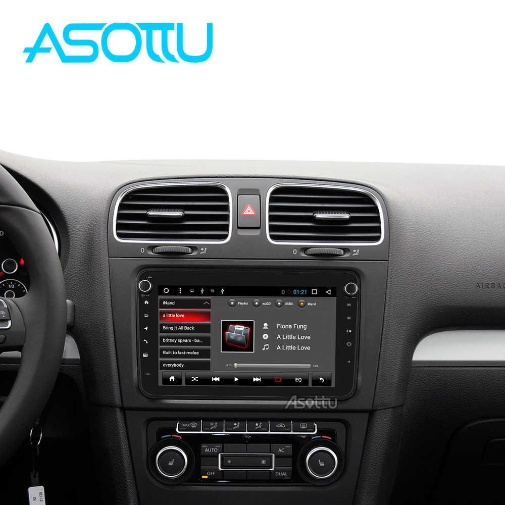 Asottu CDZ8060 android 8.1 carro dvd gps de navegação para skoda para volkswagen golf polo tiguan passat 2 din jogador gps som do carro