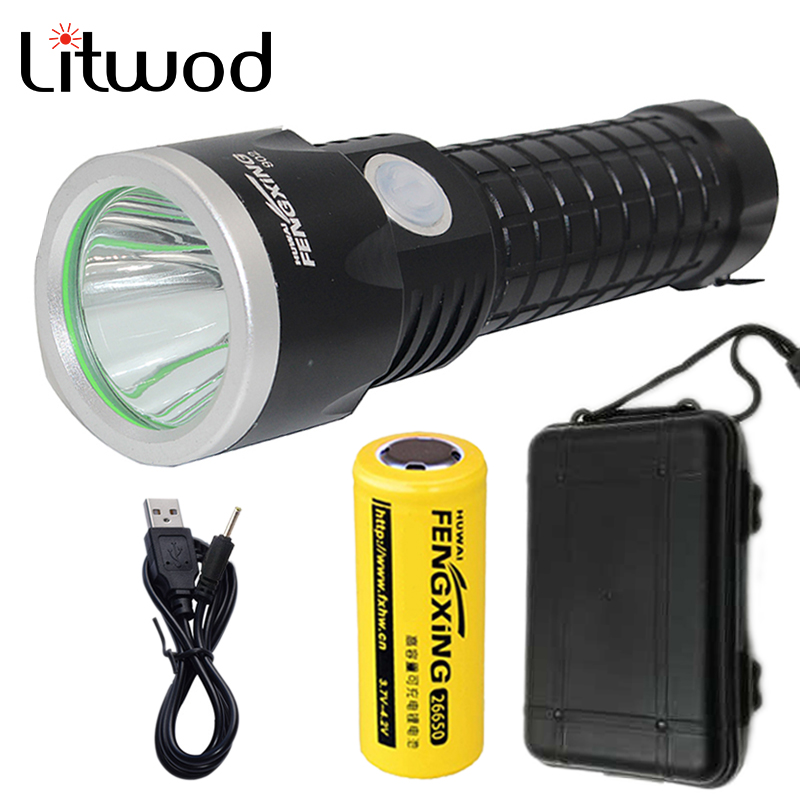 Litwod Z30902 Led Flashlight Torch XM-L T6 3800LM Rechargeable Waterproof Aluminum With 26650 Battery USB Charger & Tool Box free shipping original projector lamp dt00231 umprd190hi for cp s860 cp s958w cp s960w cp s970w cp x860w cp x958w