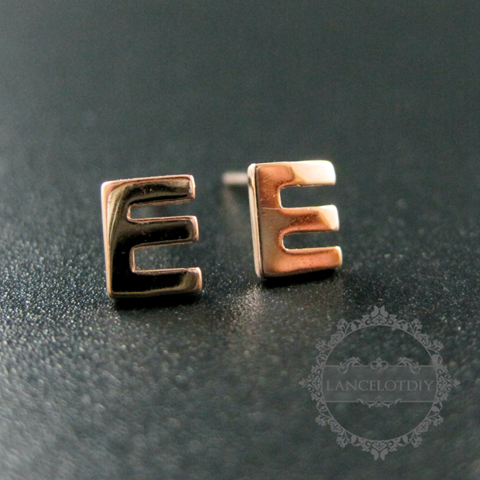 5x6mm Letter E Initial Alphabet Solid 925 Sterling Silver Earrings Studs 1703016 In Stud From Jewelry Accessories On Aliexpress Alibaba