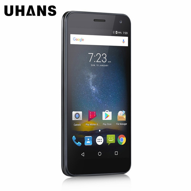 UHANS H5000 5.0 inch HD Quad Core 4G LTE Smartphone Android 6.0 3GB RAM 32GB ROM MTK6737 4500mAh Mobile Phone
