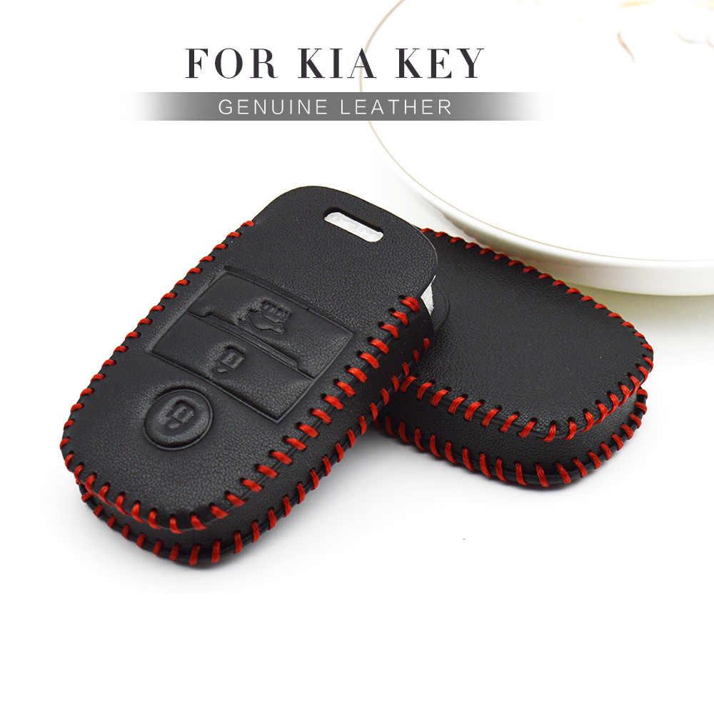 Skórzana obudowa kluczyka do samochodu pokrowiec do kia Rio 2 3 x linia Niro K7 K2 K3 K4 K5 Ceed Picanto Cerato Sportage 3 Optima 2019 brelok Shell