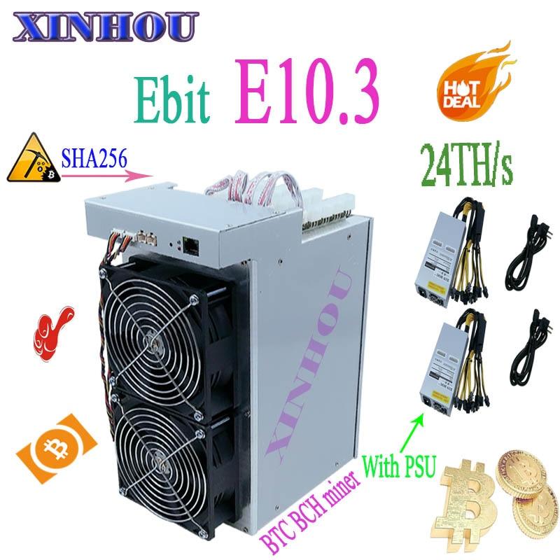 Asic bitcoin minatore Ebit E10.3 sha256 24Th/s Btc macchina Mineraria macchina di BCH Con PSU meglio di E9i E10 E9.3 antminer S9 S9k M3 M3X S11