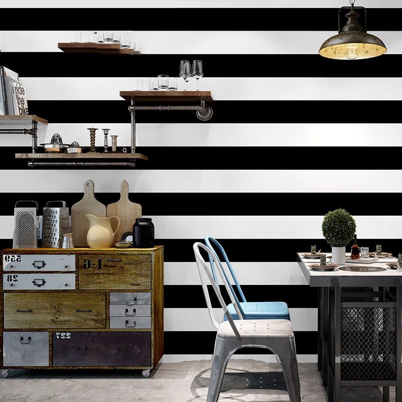us 24 5 30 off black white vertical stripe wallpaper rolls for walls living room tv background bar office 3d stripe wall paper wallcoverings in