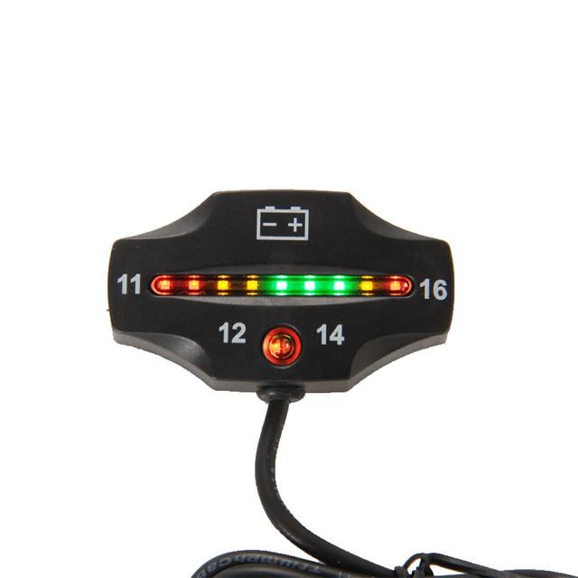 RL-BI006 Battery Gauge 9 LED battery VOLT meter battery indicator 12v FOR Auto Motorcycle ATV Tractor Trolling Motor